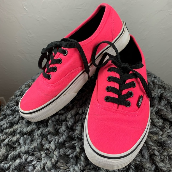 Vans Shoes   Womens Hot Pink And Black